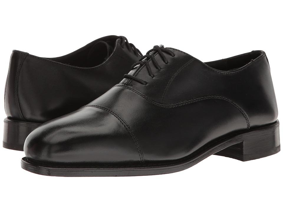 Florsheim - Edgar Cap Toe Oxford (Black Leather) Mens Lace Up Cap Toe Shoes