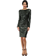 Badgley Mischka - Sequin Cowl Back Cocktail Dress