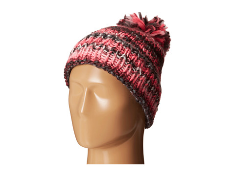 Spyder Twisty Hat - Black/Bryte Pink/White