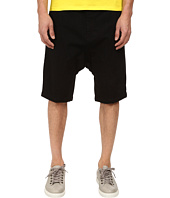 HELMUT LANG - Overdye Black Wash Drop Crotch Short