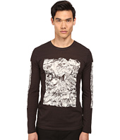 HELMUT LANG - Crumpled Print Jersey L/S Tee