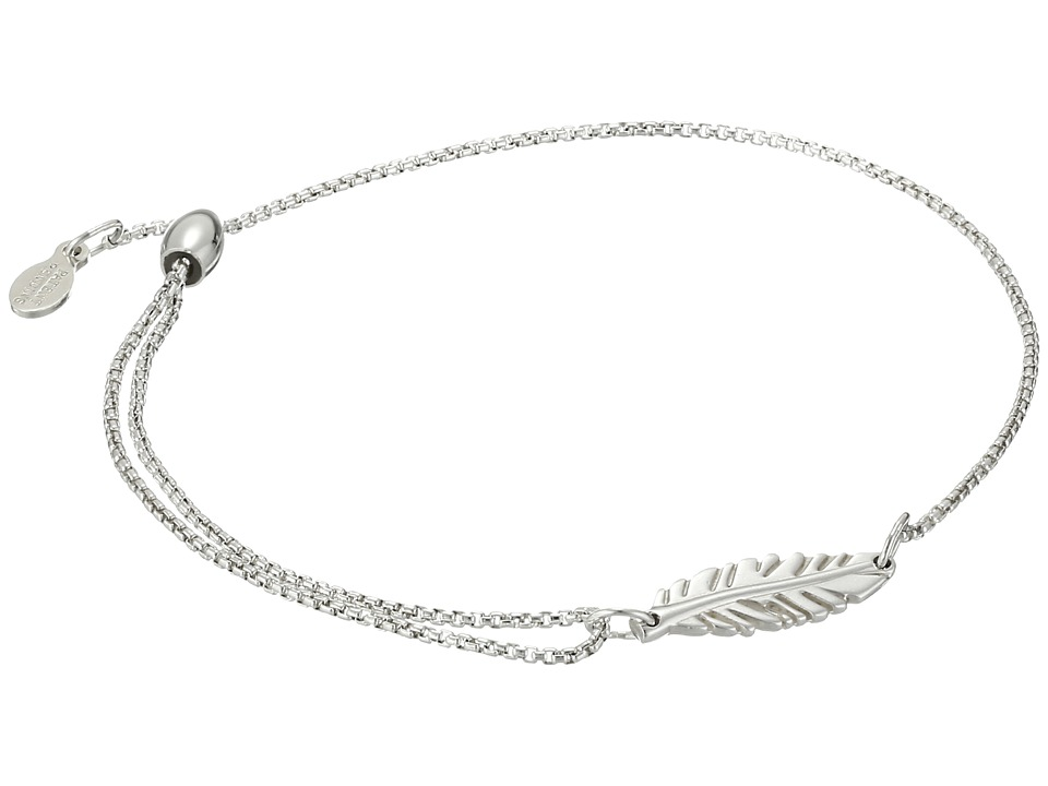 Alex and Ani - Precious II Collection Feather Adjustable Bracelet (Sterling Silver Finish) Bracelet