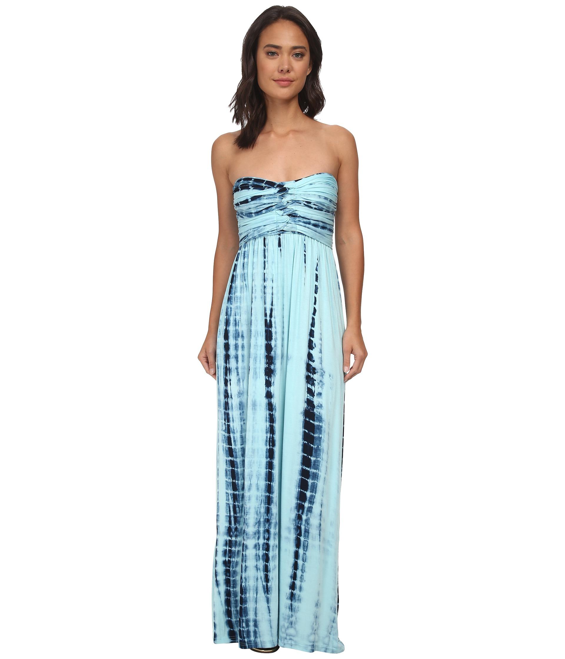 Hurley Tomboy Maxi Strapless Dress Radiant Emerald- Clothing ...
