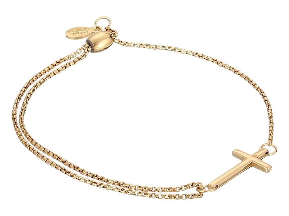 Alex and Ani - Precious II Collection Cross Adjustable Bracelet (Gold Plated Finish) Bracelet