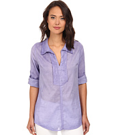 Christin Michaels - Pintucked Cotton Shirt