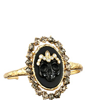 Alexis Bittar - Black Agate Cameo Cuff w/ Crystal Studded Crown & Pyrite Accent Bracelet