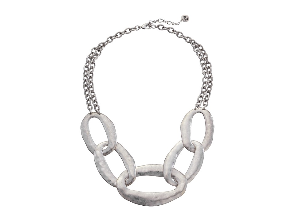 The Sak Get Connected Large Link Collar Necklace Silver Necklace