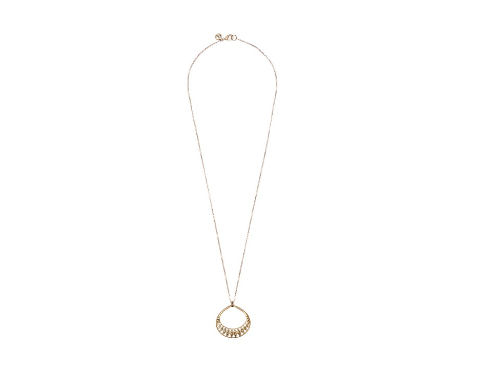 The Sak Blush Openwork Pendant Necklace Gold Necklace