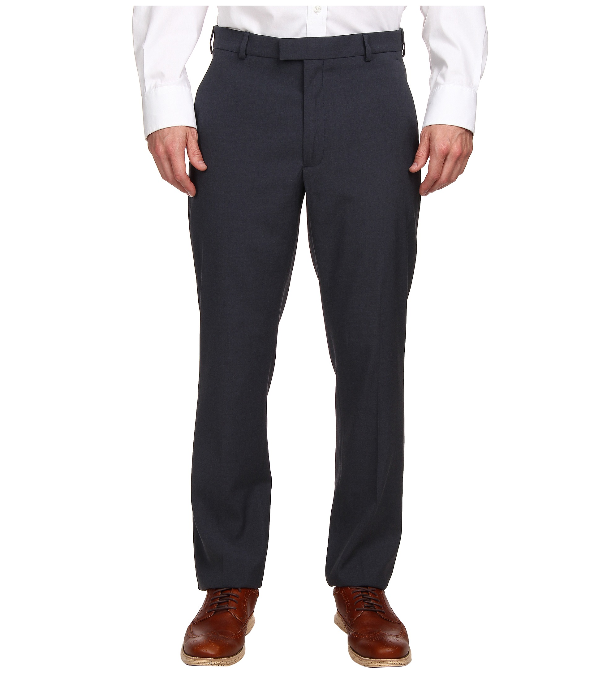 Pleated Or Flat Front Suit Pants
