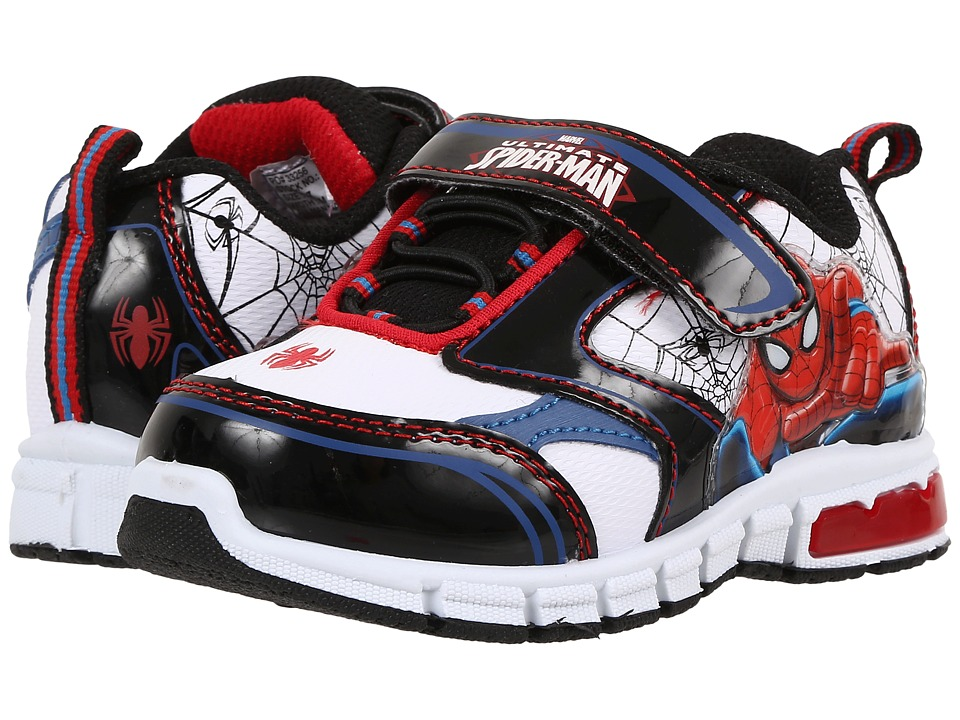 Favorite Characters Spider man 1SPS906 Athletic Sneaker Toddler/Little Kid White/Black/Red Boys Shoes