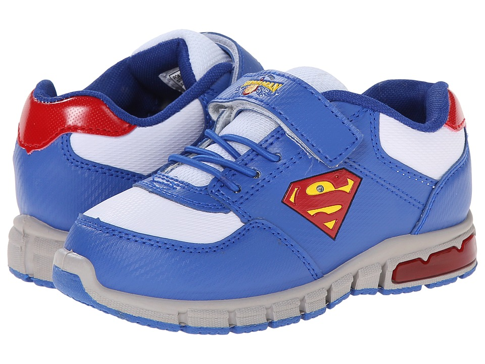 Favorite Characters Superman 1SUS900 Athletic Sneaker Toddler/Little Kid Royal/White Boys Shoes