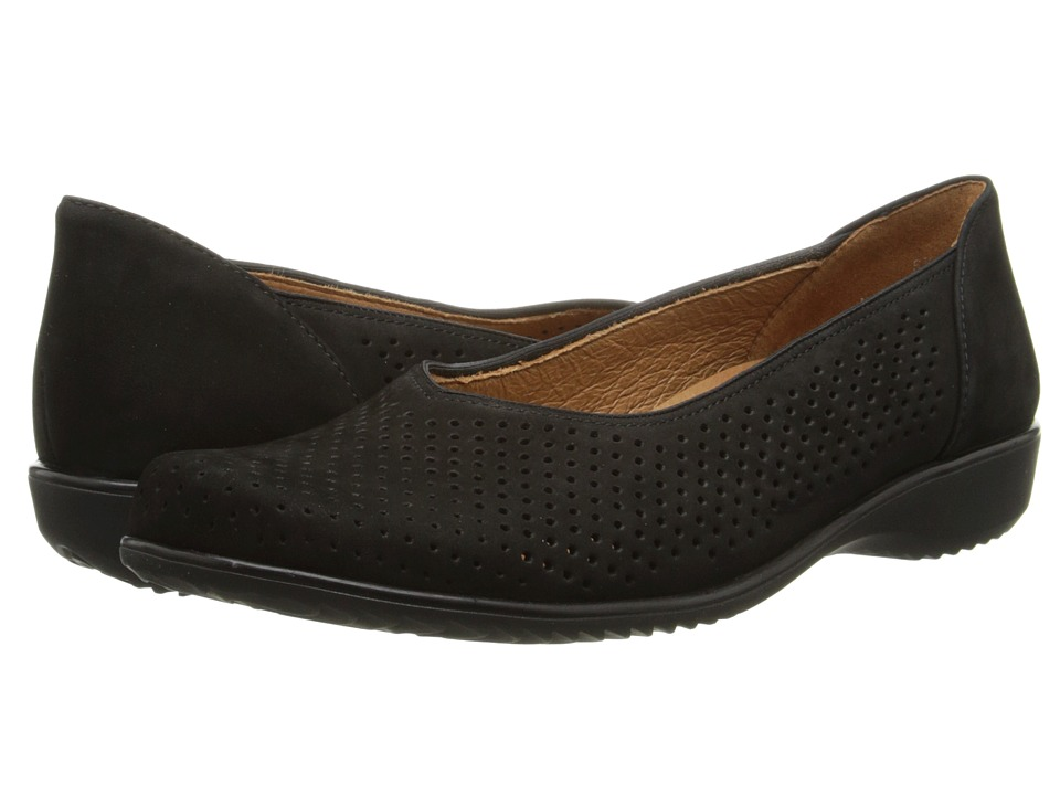 ara Avril Black Nubuk Womens Slip on Shoes
