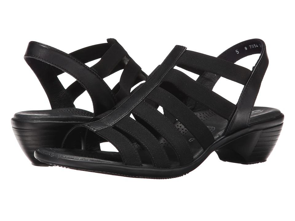 ara Peony (Black Calf/Stretch) Sandals