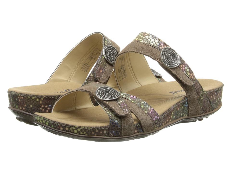 Romika Fidschi 22 (Taupe Shiny Velour) Sandals