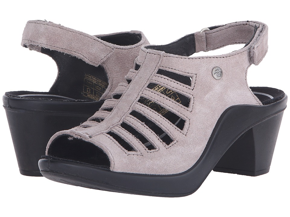 Romika Mokassetta 287 Taupe Kid Suede Womens Clog/Mule Shoes