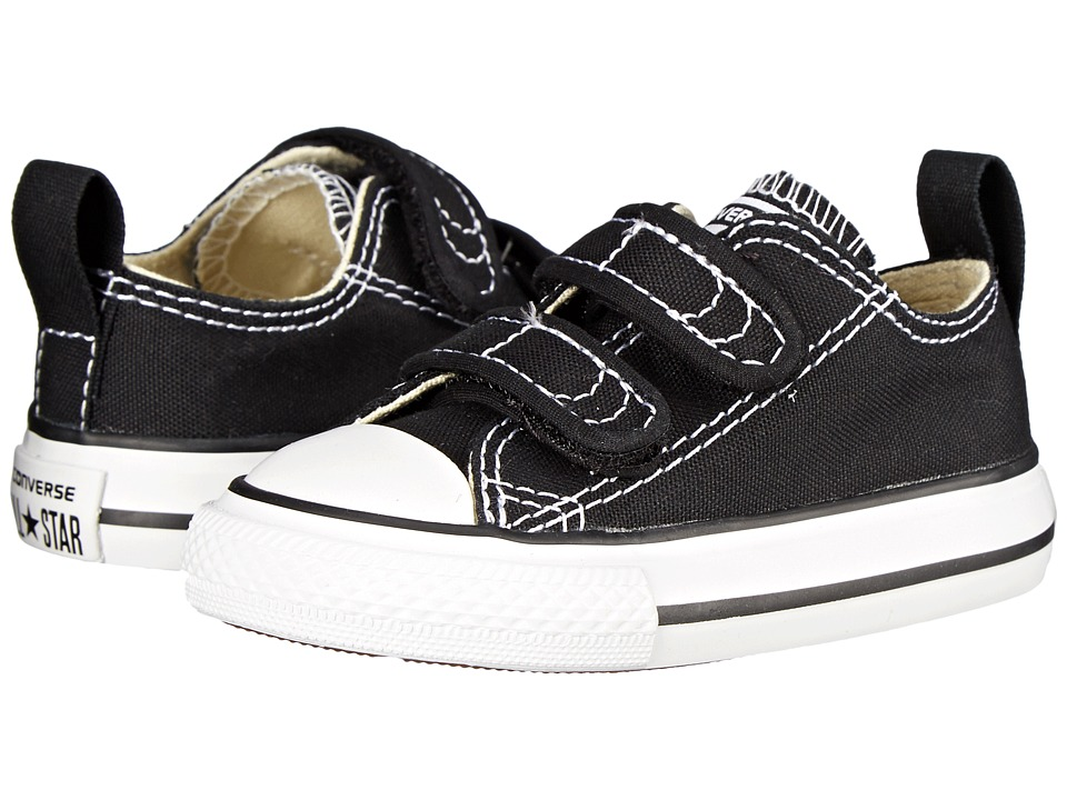 Converse Kids Chuck Taylor 2V Ox (Infant/Toddler) (Black) Kids Shoes
