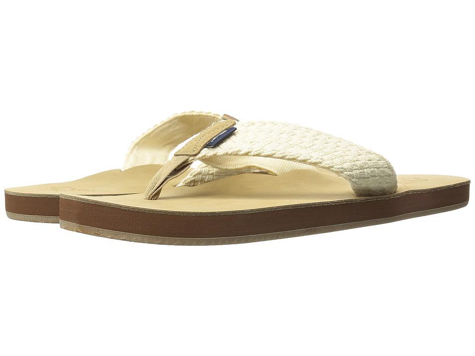 Vineyard Vines - Washed Webbing Flip Flop (Natural) Mens Sandals