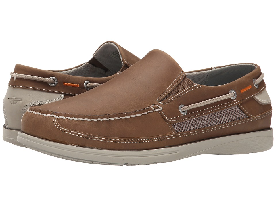 Dockers Chalmers Taupe Oily Crazyhorse Mens Slip on Shoes