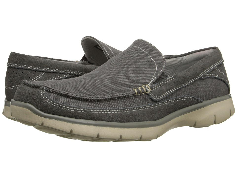 Image of Dockers Ambrose (Charcoal Washed canvas/Suede) Men's Slip on Shoes