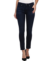 7 For All Mankind - The Ankle Skinny w/ Contour Waistband in Pristine Blue Black