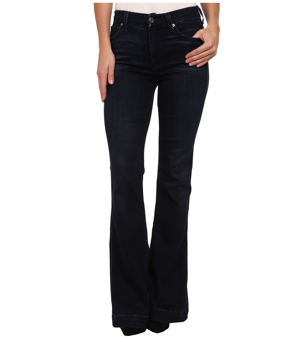 7 For All Mankind The Highwaist Slim Trouser in Pristine Blue Black (Pristine Blue Black) Women's Jeans