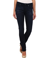 7 For All Mankind - The Modern Straight w/ Contour Waistband in Pristine Blue Black