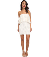 Tbags Los Angeles - Lace Crochet Ruffle Tube Dress