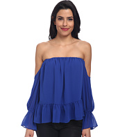 Tbags Los Angeles - Chiffon Ruffled Top with Cutout