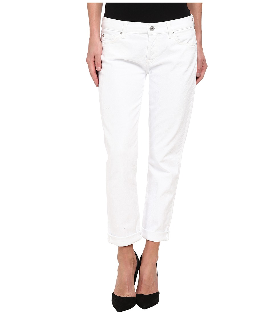 7 For All Mankind Josefina in Clean White (Clean White) Women