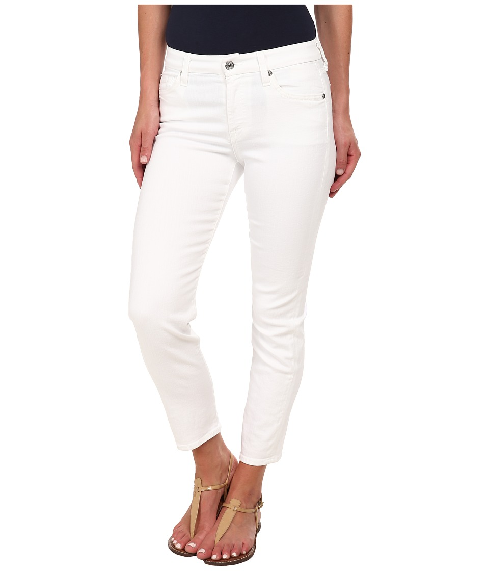 7 For All Mankind - Kimmie Crop in Clean White (Clean White) Womens Jeans
