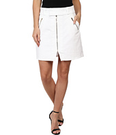 7 For All Mankind - A-Line Skirt w/ Exposed Zips in White Fashion