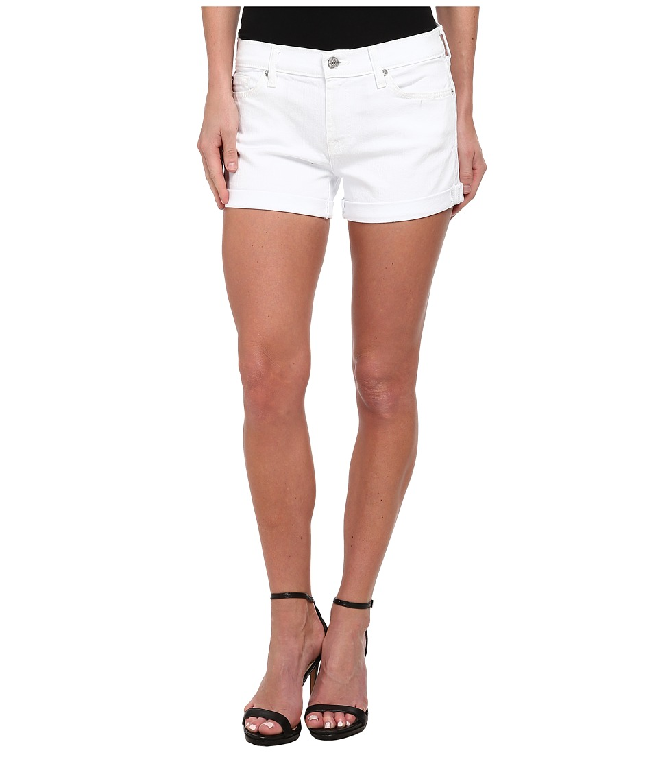 7 For All Mankind - Roll Up Short in Clean White (Clean White) Womens Shorts