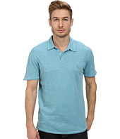 John Varvatos Star U.S.A. - Soft Collar Peace Polo with Contrast Stitching and Peace Sign Chest Embroidery
