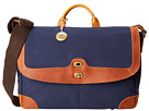 Will Leather Goods Dennis Messenger (Navy/Tan)