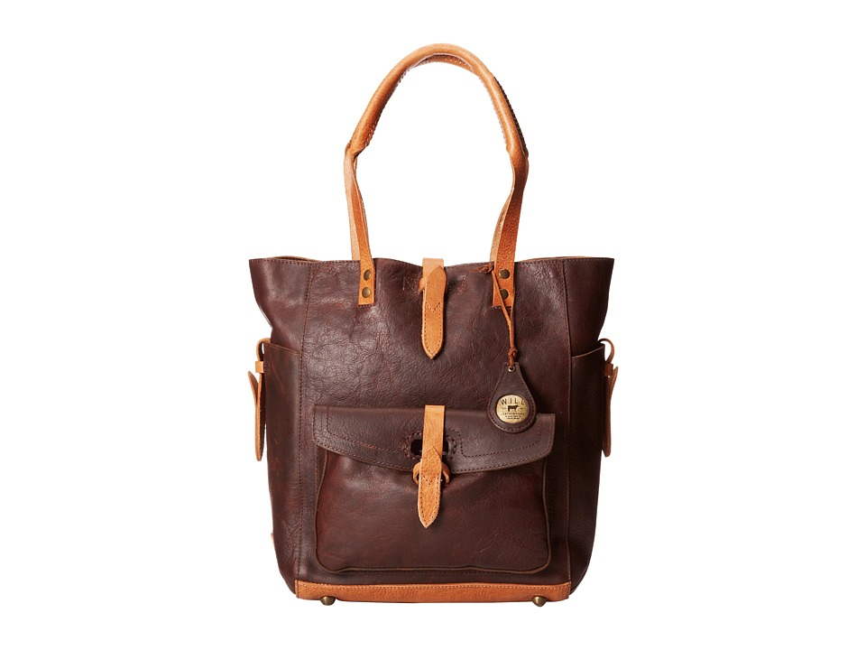 Will Leather Goods Ashland Tote Brown Tote Handbags