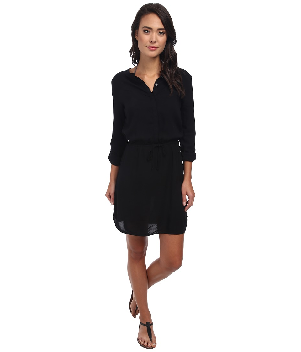 Body Glove Pam Shirt Dress Cover Up Black Womens Dress