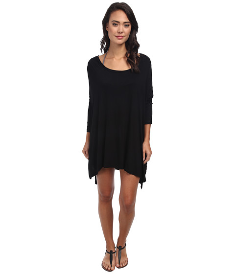 Body Glove - Brynn 3/4 Sleeve Tunic Cover-Up (Black) Women's Dress