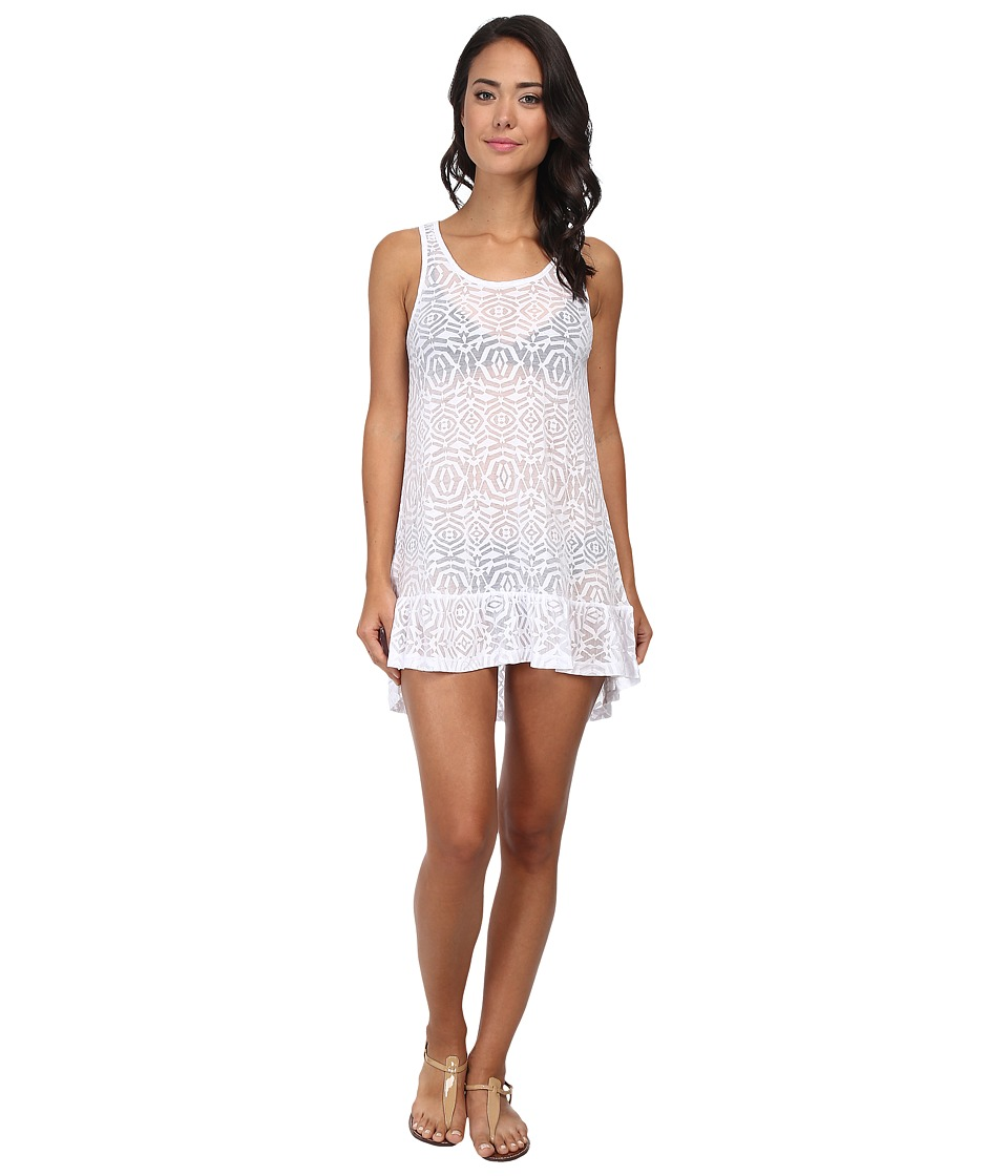Body Glove Ariel Tank Dress Cover Up White Womens Swimwear