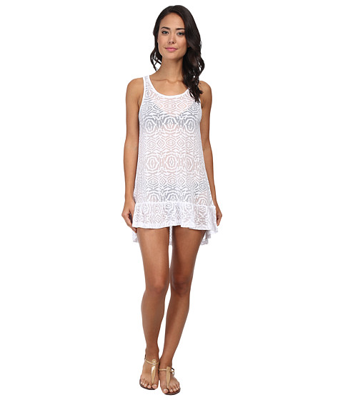 Body Glove - Ariel Tank Dress Cover-Up (White) Women's Swimwear