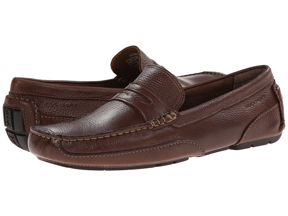 Rockport - Oaklawn Park Penny (Brown) Mens Slip on  Shoes