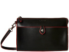 Lodis Accessories Audrey Vicky Convertible Crossbody Clutch (Black/Red)