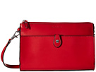 Lodis Accessories Audrey Vicky Convertible Crossbody Clutch (Red/Black)