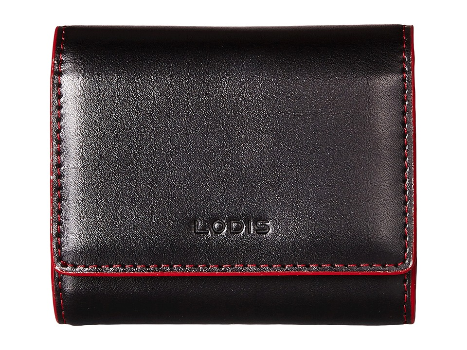 Lodis Accessories Audrey Accordion Card Case Black/Red Credit card Wallet