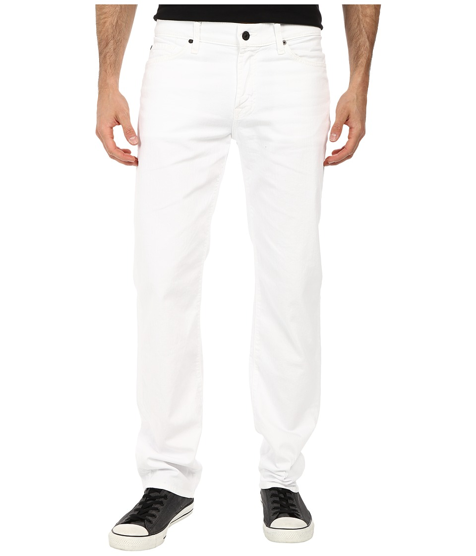 7 For All Mankind Slimmy w/ Clean Pocket in White Denim White Denim Mens Jeans