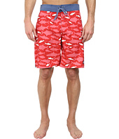Vineyard Vines - School Of Fish Whale Stripe Board Short