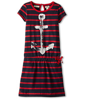 Hatley Kids - Nautical Red Stripes Drop Waist Dress (Toddler/Little Kids/Big Kids)