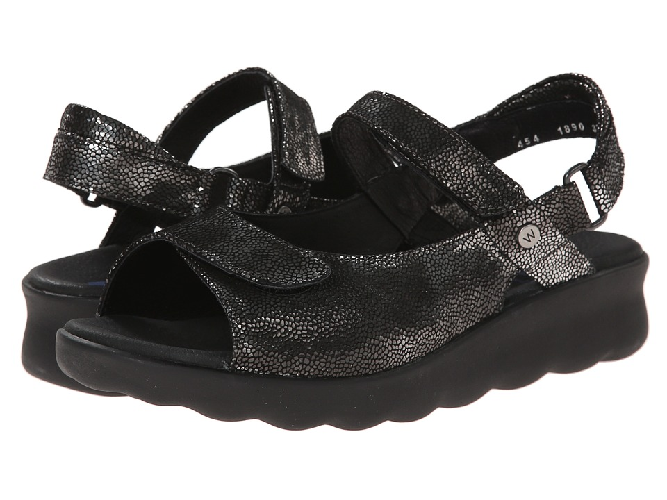 Wolky Pichu Black Womens Sandals