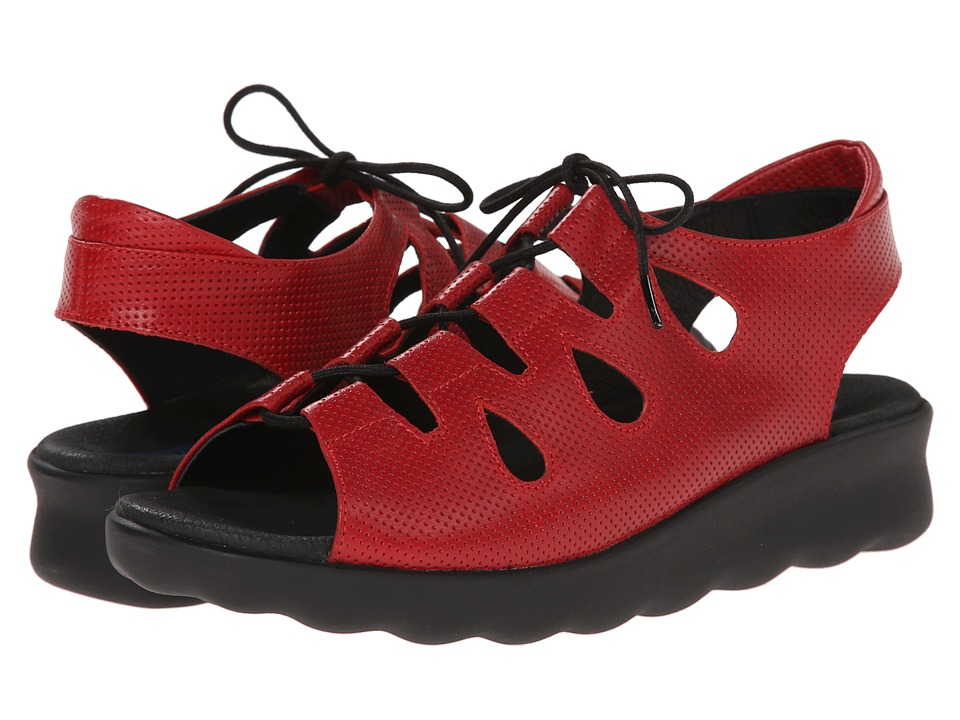 Wolky Natu Red Womens Sandals
