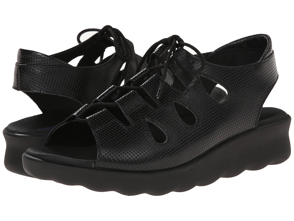 Wolky Natu Black Womens Sandals