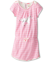 Hatley Kids - Pink Zinc Stripes Petal Sleeve Dress (Toddler/Little Kids/Big Kids)